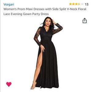 Black Vcegari evening gown